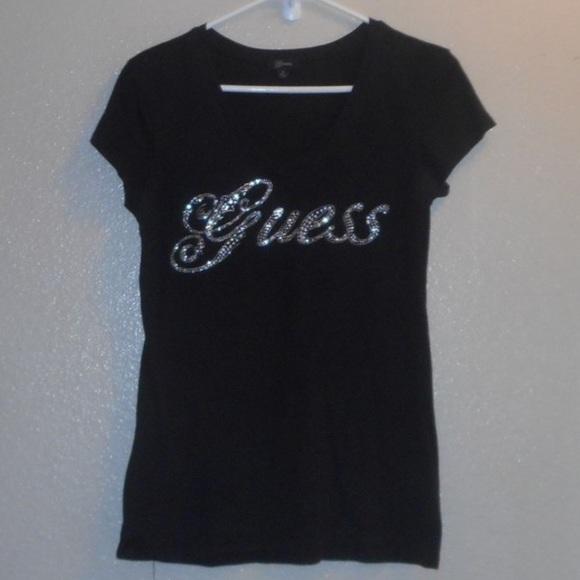 75b47e3a Guess rhinestone t-shirt. M_5c0534faaa877023bf9e92fa